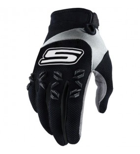 GANTS MX CROSS US TACTILE - NOIR/BLANC -