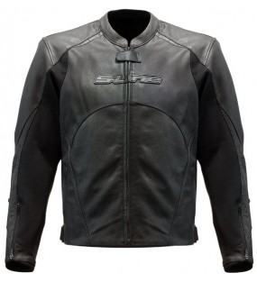 BLOUSON CUIR RACING PERFORE BLACK SERIES