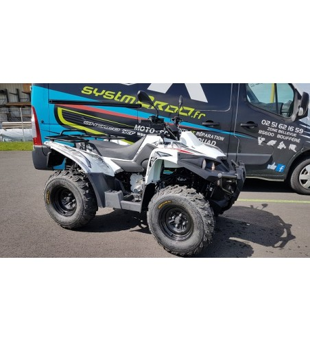 QUAD OCCASION ACCESS MOTOR 400 ADVENTURE BLANC HOMOLOGUE T3 ROUTE DEUX PLACES 2400KM