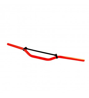 GUIDON TUNR CROSS ALU ROUGE FLUO
