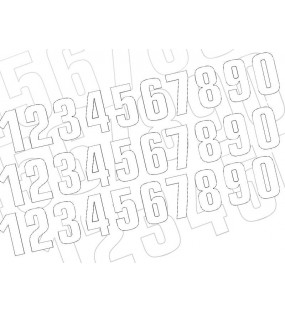 Numéro de course 4 BLACKBIRD 16x7,5cm blanc