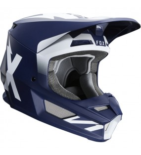 CASQUE CROSS FOX V1 WERD HELMET BLEU