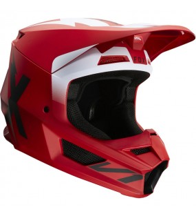 CASQUE CROSS FOX V1 WERD HELMET ROUGE