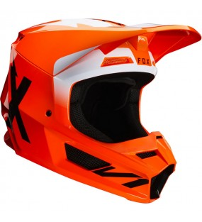 CASQUE CROSS FOX V1 WERD HELMET ORANGE