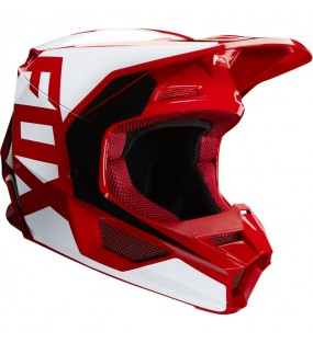 CASQUE CROSS FOX V1 PRIX HELMET ROUGE