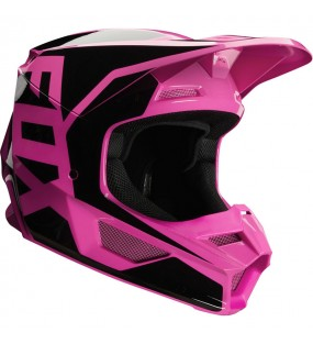 CASQUE CROSS FOX V1 PRIX HELMET ROSE