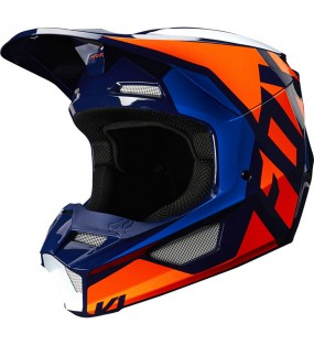 CASQUE CROSS FOX V1 PRIX HELMET ORANGE ET BLEU