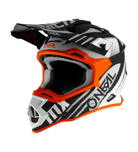 CASQUE ONEAL 2 SERIE SPYDE NOIR BLANC ORANGE