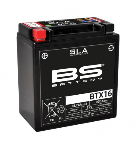 BATTERIE BS BTX 16 SLA ACTIVE EN USINE