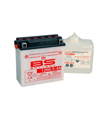 BATTERIE BS BATTERY 12N5.5-4A CONVENTION