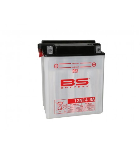 BATTERIE BS BATTERY 12N14-3A  CONVENTION