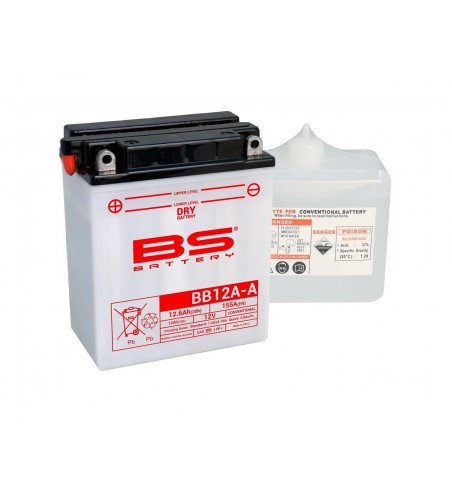 BATTERIE BS BB12A-A  AVEC PACK  ACIDE