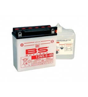 BATTERIE BS BATTERY 12N5.5-4B CONVENTIONNELLE LIVR
