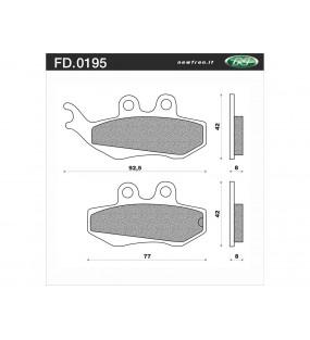 Plaquettes de frein NEWFREN FD0195BE organique