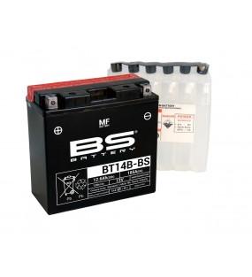 Batterie BS BT14B-BS sans entretien livrée avec pack acide