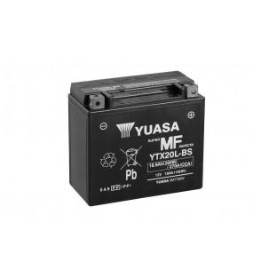 Batterie YUASA YTX20L-BS sans entretien livrée avec pack acide