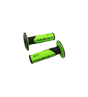POIGNEE PROGRIP OFF ROAD 801 DOUBLE DENSITE BASE NOIR / VERT