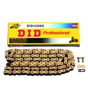 Chaîne de transmission D.I.D 428 NZ or / noir 120 maillons
