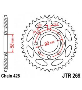Couronne JT SPROCKETS 49 dents acier standard pas 428 type 269