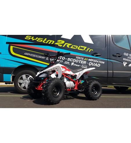 QUAD ACCESS MOTOR ENDURO 110 CM3 4T BLANC