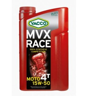 HUILE YACCO MVX RACE 4TEMPS 15W50 100% SYNTHESE BIDON DE 2L