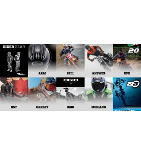 CATALOGUE EQUIPEMENT PILOTE ARAI, BELL, ANSWER, UFO, RST, OAKLEY, OGIO, MIDLAND, S3
