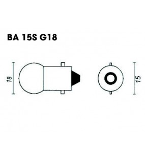 AMPOULES 12V / 21W CULOT BA15S
