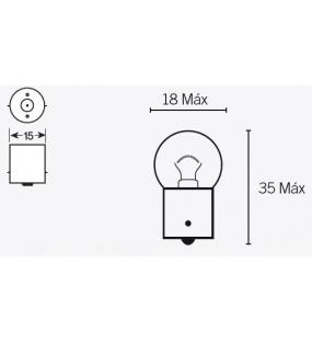 Ampoule V PARTS G18 6V/10W culot BA15s