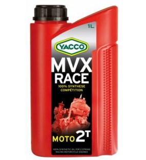 HUILE YACCO MVX RACE 2TEMPS 100%SYNTHESE 1L
