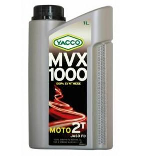 HUILE YACCO MVX 1000 2TEMPS 100% SYNTHESE BIDON 1L