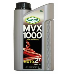 HUILE YACCO MVX 1000 2TEMPS 100% SYNTHESE 1L