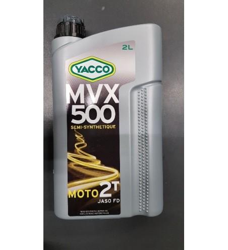 HUILE YACCO MVX 500 2TEMPS BIDON DE 2L