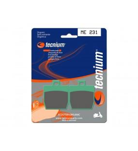 Plaquettes de frein TECNIUM ME231 organique