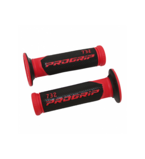 POIGNEE PROGRIP SCOOTER 732 DOUBLE DENSITE ROUGE/NOIR 125mm