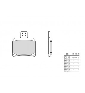 Plaquettes de frein BREMBO 07004CC carbone céramique
