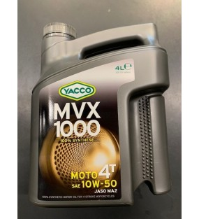 HUILE YACCO MVX 1000 4TEMPS 10W50 100% SYNTHESE 4L