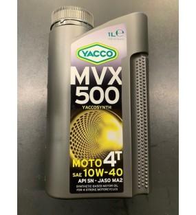 HUILE YACCO MVX 500 4TEMPS 10W40 BIDON DE 1L