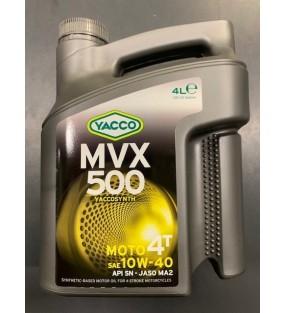 HUILE YACCO MVX 500 4TEMPS 10W40 SEMI SYNTHESE 4L