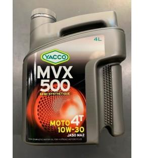 HUILE YACCO MVX 500 4TEMPS 10W30 BIDON DE 4L