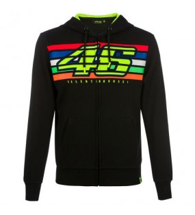 SWEAT ZIPPE RAYURE NOIR VRI46