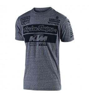 KTM TEAM VINTAGE GRAY  TEE TLD TAILLE S